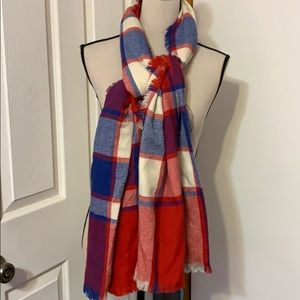NEW MERONA PLAID BLANKET SCARF